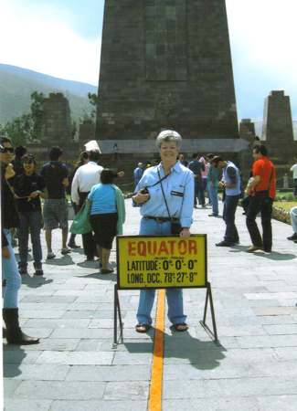 Cindy Bradford at the Equator