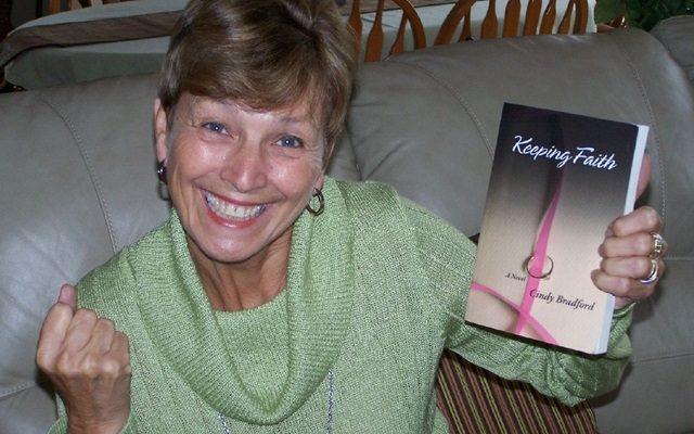 Helen holding Keeping Faith